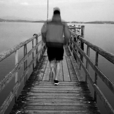 Laufen auf Steg